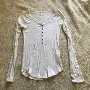 Abercrombie & Fitch | White Long Sleeve Top